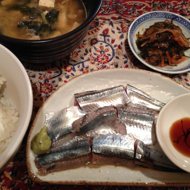 秋刀魚刺身定食
