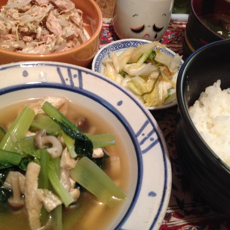 小松菜の煮びたし定食