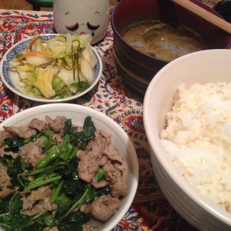 ラム肉炒め定食