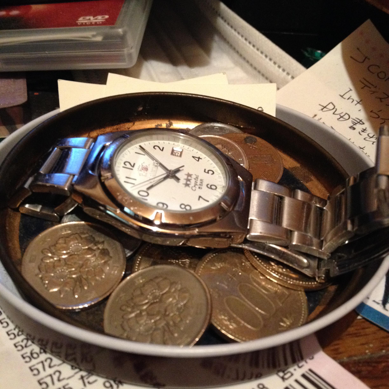 小銭と時計