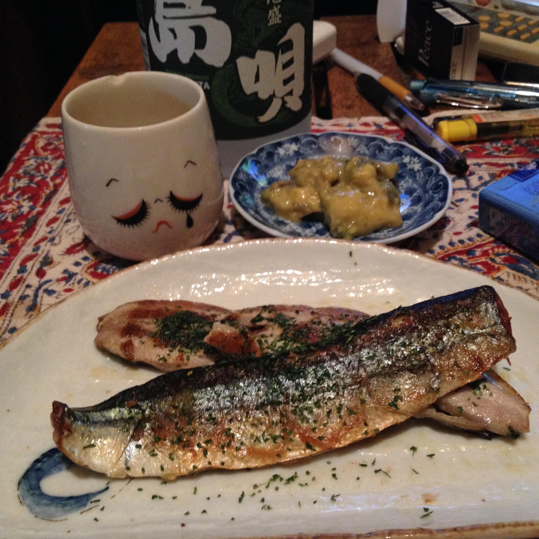 秋刀魚開き焼き
