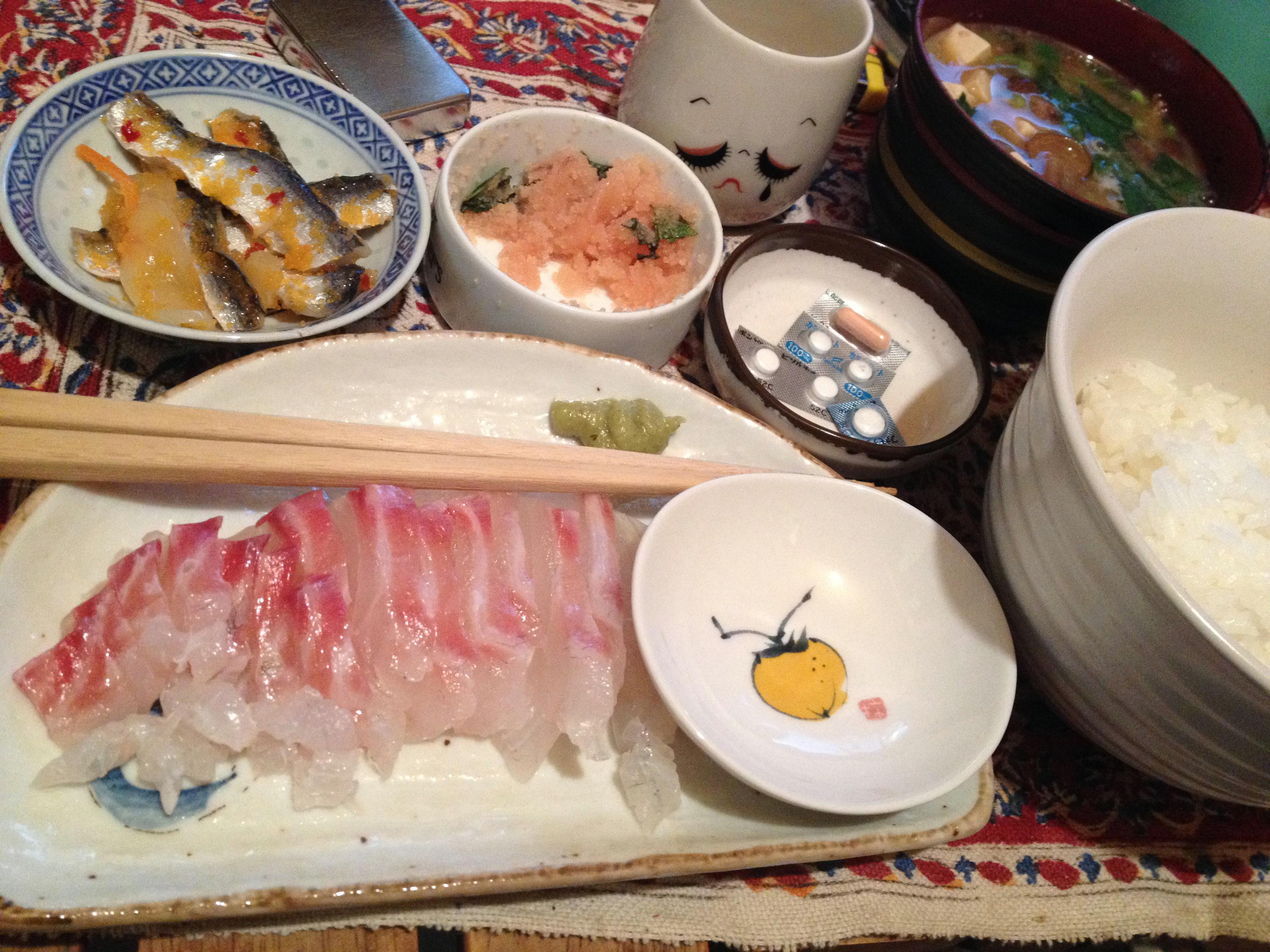 鯛刺身定食
