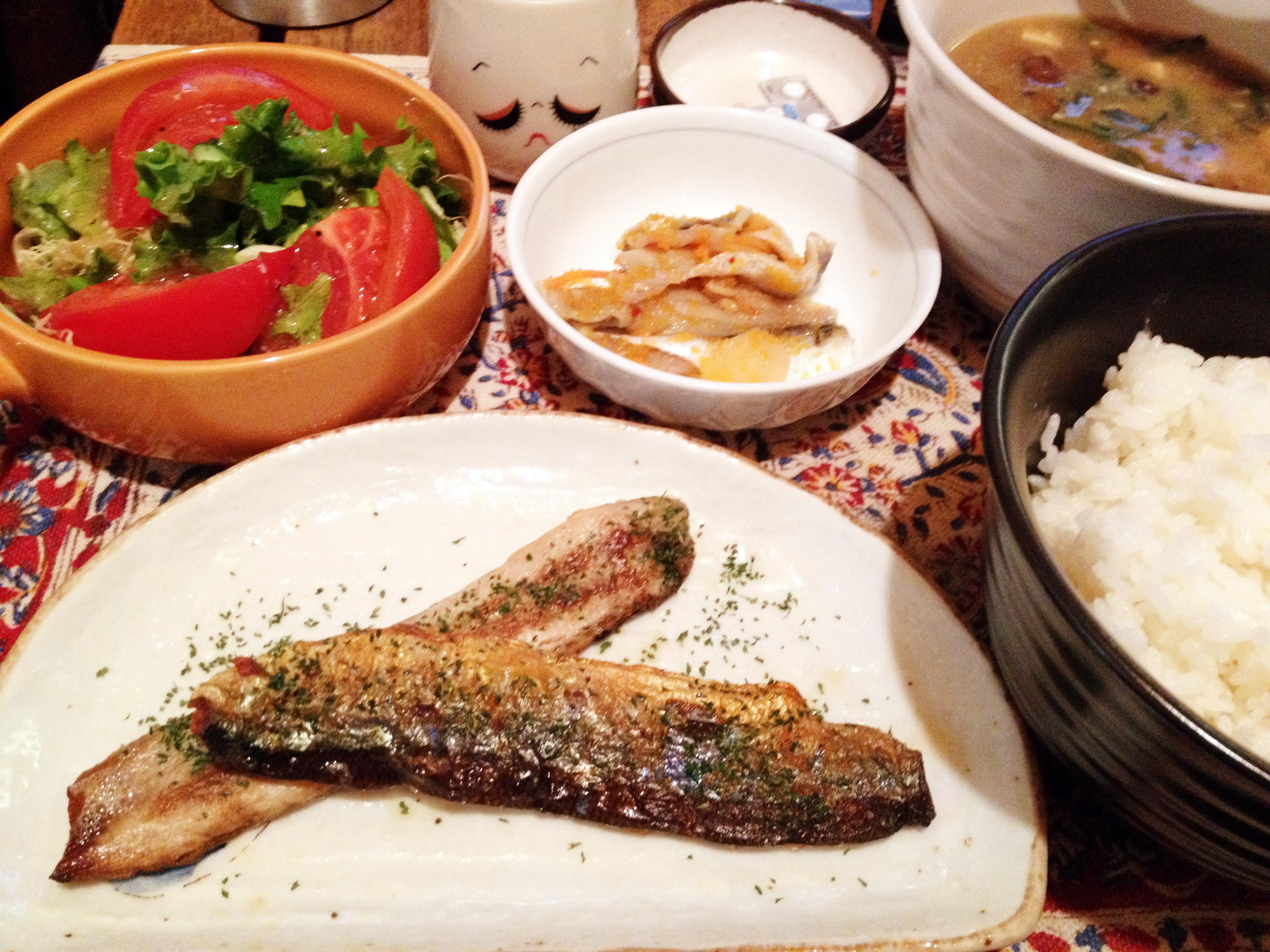 秋刀魚香草焼き定食