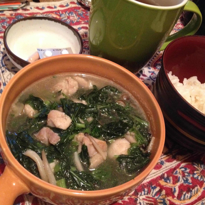 鶏スープ朝食