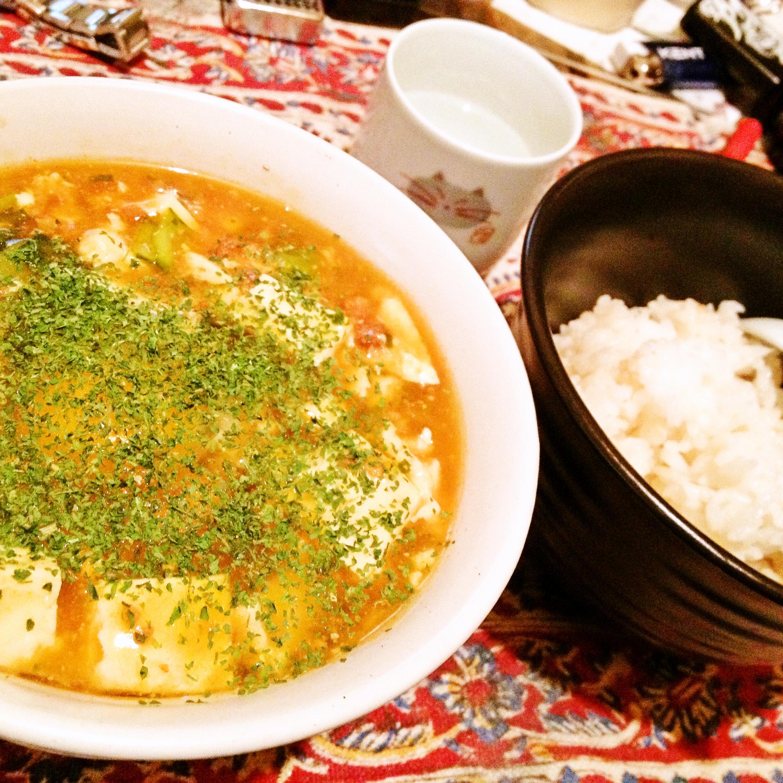 麻婆豆腐丼iPhone4S載せ