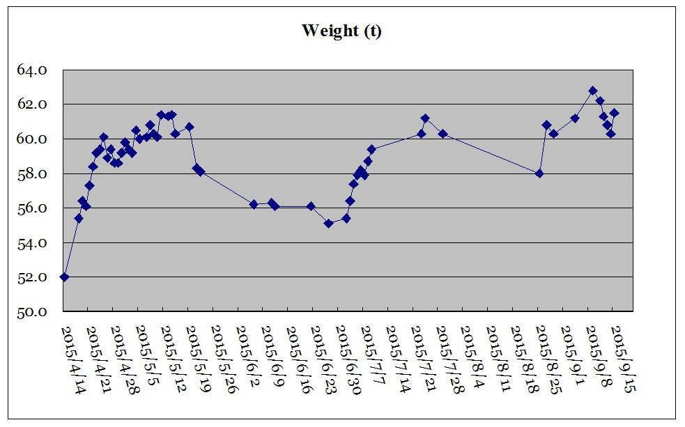 体重の推移