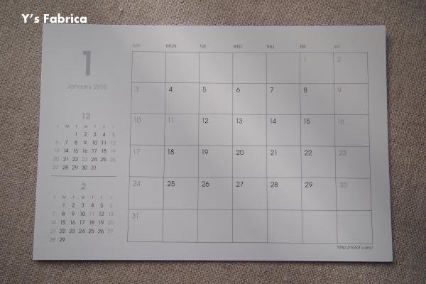 2016オリジナルカレンダーが完成しました!