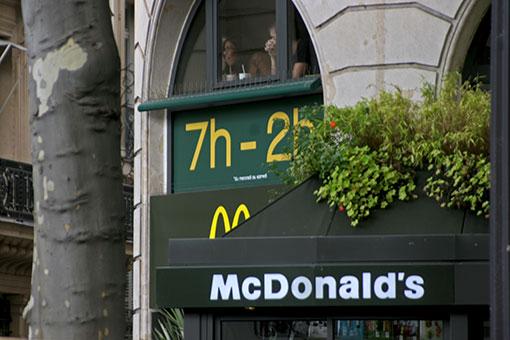パリのマクドナルド