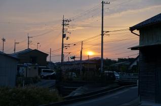 秋の朝日32