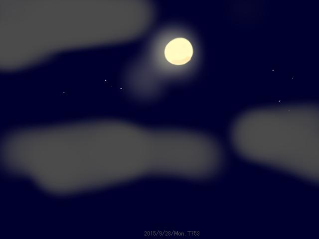 満月の浮かぶ