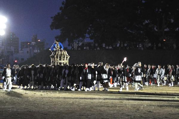 松山市秋祭り 堀の内公園 四角八角 鉢合わせ