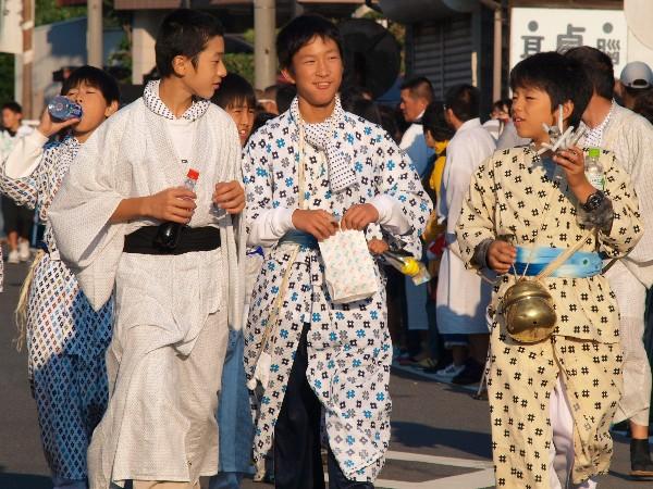 勝岡八幡神社秋祭り 一体走り