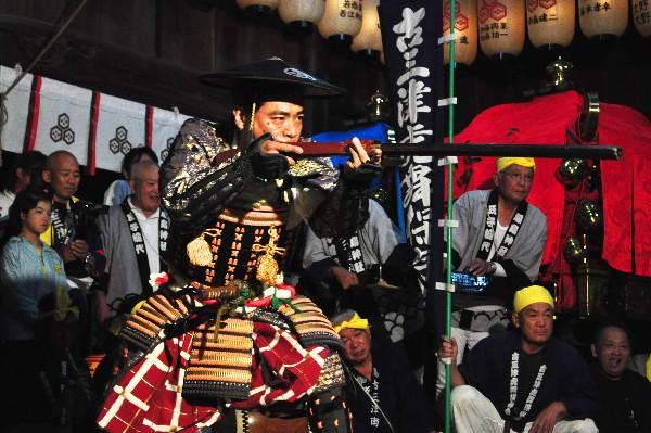 三津厳島神社秋祭り 0時半から0時50分虎舞奉納