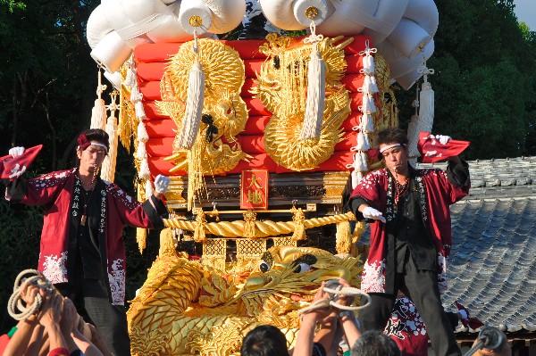 五十鈴神社 秋祭り大地太鼓台
