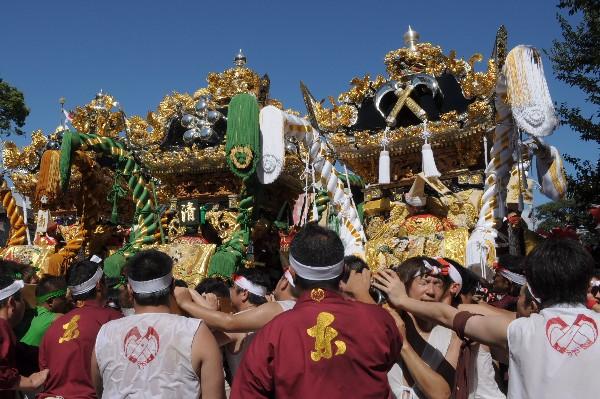 播州姫路の秋祭 恵美酒宮天満神社の秋まつりと屋台の台場練り