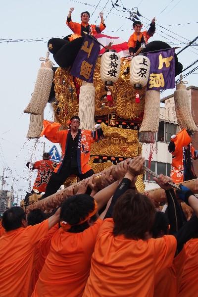 新居浜夏祭り 上原太鼓台 太鼓台の競演