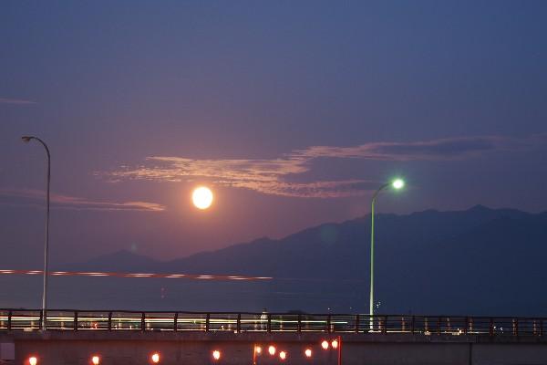 夜景写真 月夜