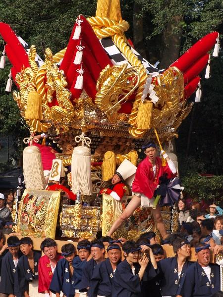 福崎町西田原「熊野神社の祭り 長目屋台の宮入