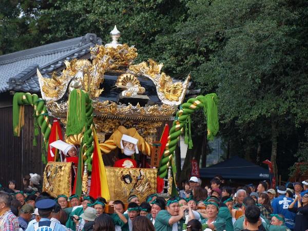 福崎町西田原「熊野神社の祭り 西野屋台の宮入