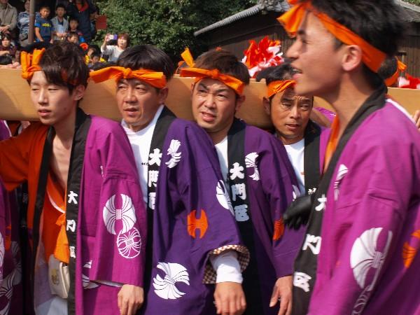 福崎町西田原「熊野神社の祭り 大門屋台の宮入」