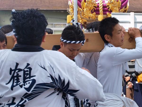 福崎地区 JR福崎駅前 屋台が練り上げ 板坂屋台