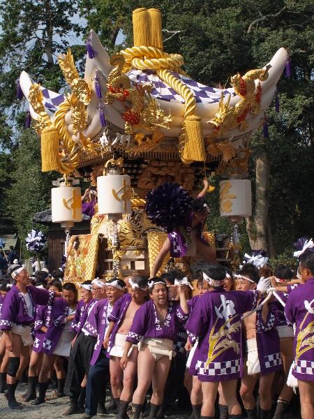 福崎町西田原、熊野神社の秋季例大祭  中島屋台宮入