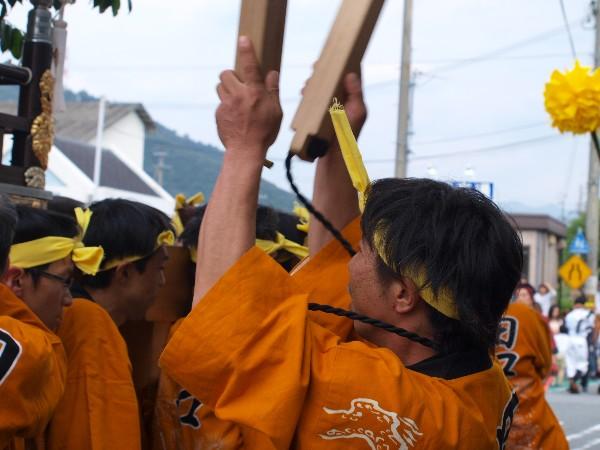 福崎地区 JR福崎駅前 屋台が練り上げ 田口屋台
