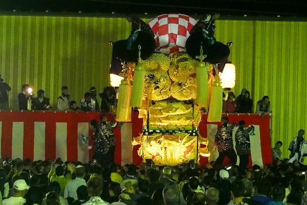 新居浜太鼓祭り 大生院バリュー店会場 岸之下太鼓台