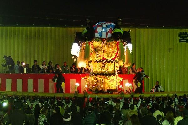 新居浜太鼓祭り 大生院バリュー店会場 下本郷太鼓台