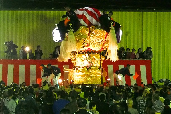 新居浜太鼓祭り 大生院バリュー店会場 上原太鼓台