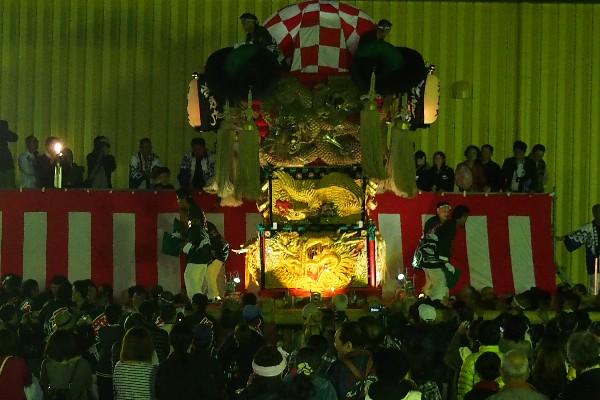 新居浜太鼓祭り 大生院バリュー店会場 治郎丸太鼓台