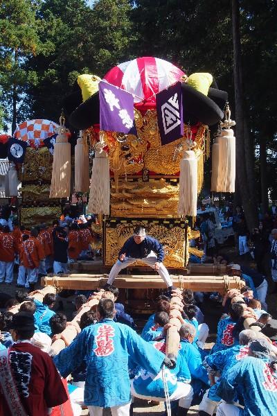 西条飯積神社祭礼 八幡神社宮出し 岸影太鼓台