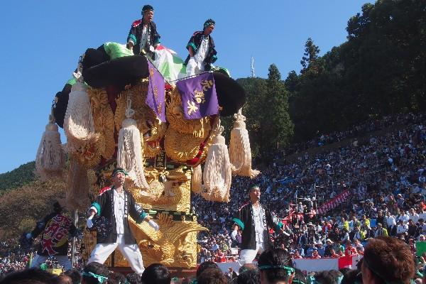 新居浜太鼓祭り 山根統一寄せ 元船木太鼓台の入場