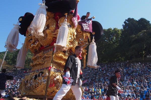 新居浜太鼓祭り 山根統一寄せ 高祖太鼓台の入場