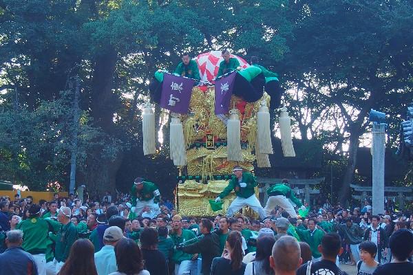 2015年新居浜太鼓祭り 川西地区 一宮神社宮入 東町太鼓台