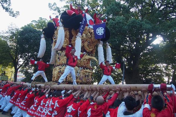 2015年新居浜太鼓祭り 川西地区 一宮神社宮入 金栄太鼓台