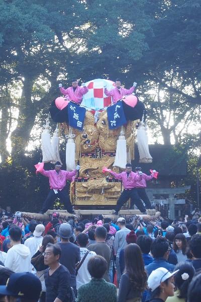 2015年新居浜太鼓祭り 川西地区 一宮神社宮入 久保田太鼓台