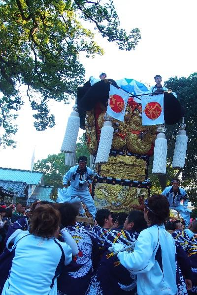 2015年新居浜太鼓祭り 川西地区 一宮神社宮入 口屋太鼓台