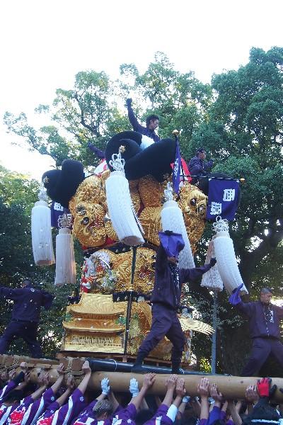 2015年新居浜太鼓祭り 川西地区 一宮神社宮入 西原太鼓台