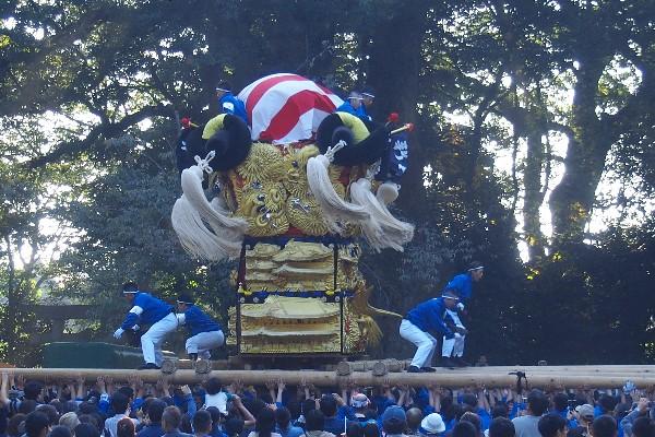 2015年新居浜太鼓祭り 川西地区 一宮神社宮入 新田太鼓台
