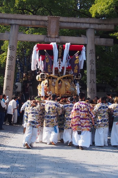 宇夫階神社 2015年秋の例大祭 宮入 西若太鼓台
