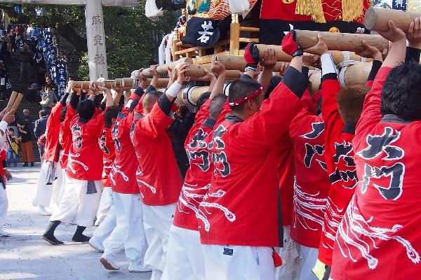 宇夫階神社 2015年秋の例大祭 宮入 大若太鼓台