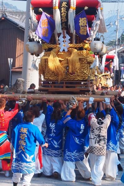 宇夫階神社 2015年秋の例大祭 宮入