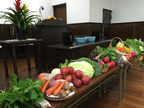 収穫感謝日の礼拝