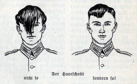 ドイツ国防軍の髪型規定。