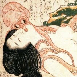 北斎 蛸と海女 部分