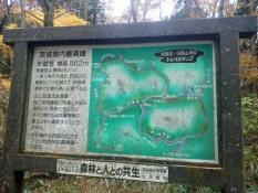 登山口の案内板