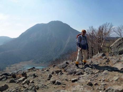 五色山山頂からの白根山