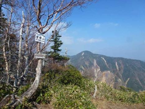 金精山の山頂