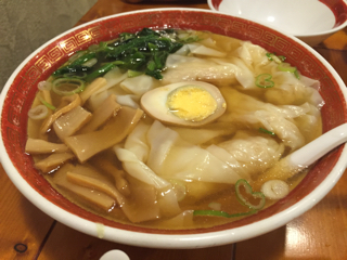 清湯海老雲呑麺(醤)